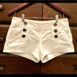 """Express 2"""" white stretch sailor shorts- size 2"""